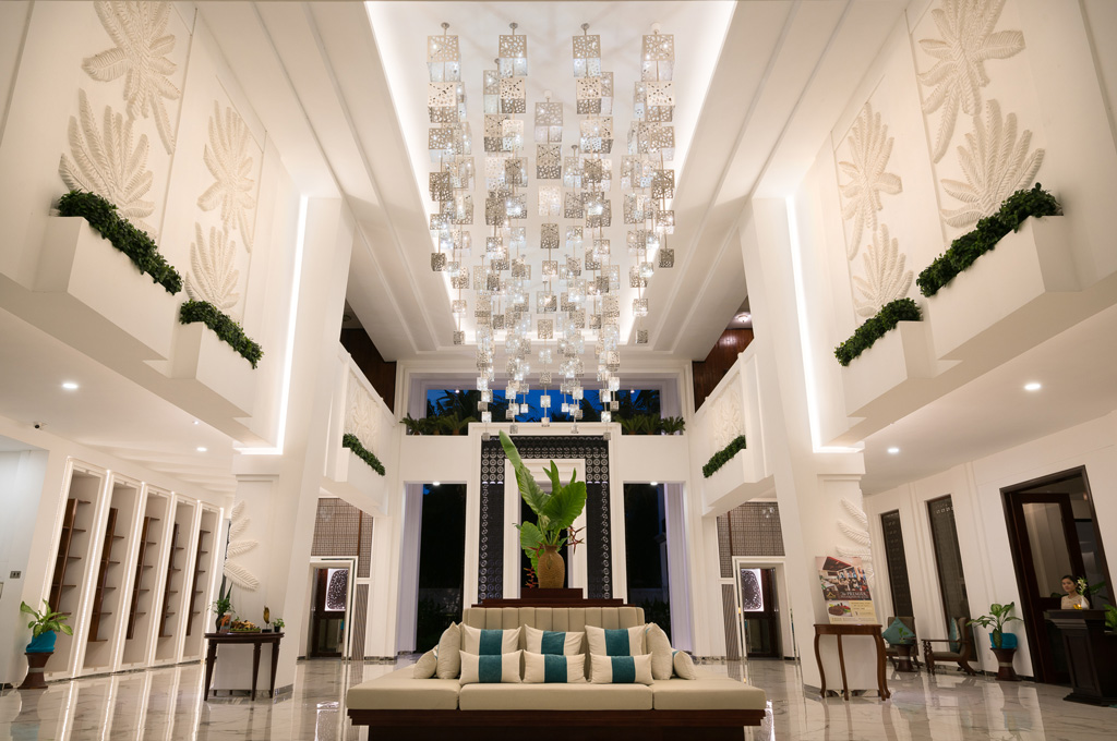 Lotus blanc hotel lobby